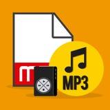 数字式音乐 向量例证