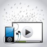 数字式音乐 库存例证