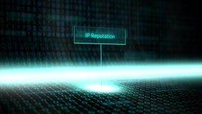 数字式风景软件定义了与未来派二进制编码- IP名誉的印刷术 皇族释放例证