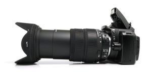 数字式黑色照相机 库存图片
