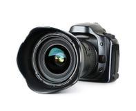 数字式黑色照相机 库存照片