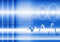 数字式,类似物和波浪的抽象背景 库存照片