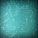 数字式代码背景 免版税图库摄影