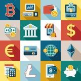 数字式bitcoin电子cryptocurrency 图库摄影