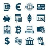 数字式bitcoin电子cryptocurrency 免版税库存照片