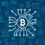数字式bitcoin电子cryptocurrency 库存照片