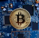 数字式Cryptocurrency 免版税库存照片
