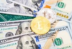 数字式cryptocurrency bitcoin,电子计算机的组分 图库摄影