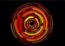 数字式imag红色虚拟旋转 库存图片