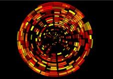 数字式imag红色虚拟旋转 免版税库存图片