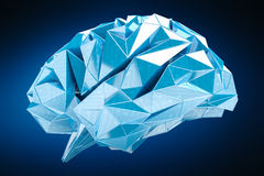 数字式X-射线人脑3D翻译 库存图片