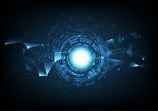数字技术摘要背景现代与明亮的混合 皇族释放例证