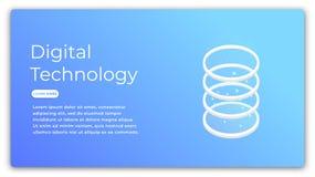数字技术等量概念 数据分析,大数据处理,云彩计算的例证 未来派 图库摄影