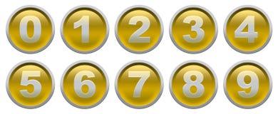 数字按钮 免版税库存图片