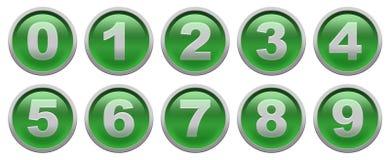 数字按钮 免版税库存照片