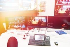 数字控制系统和调度中心 库存照片