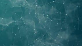 数字未来派小点和线连接 库存例证