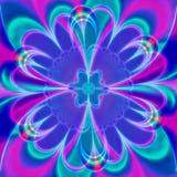 数字淡紫色花,计算机生成,3D翻译分数维艺术 向量例证