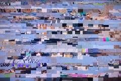 数字电视噪声 免版税库存图片