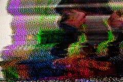 数字电视噪声 免版税库存照片