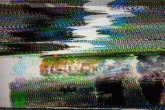 数字电视噪声 库存照片