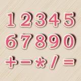 数字的概念与算术标志的 免版税图库摄影
