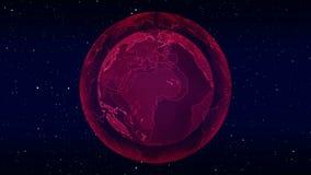 数字行星地球loopable动画 向量例证