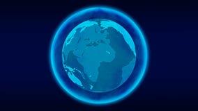数字行星地球loopable动画 皇族释放例证