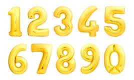 数字被设置由可膨胀的气球制成 免版税图库摄影
