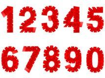 数字被设置的被折叠的纸标志 免版税库存照片