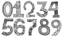数字被设置面团或草 传染媒介设计模板元素 库存图片