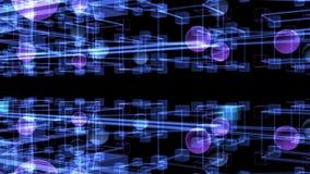 数字资料和摘要信息迷宫  科学动画 向量例证