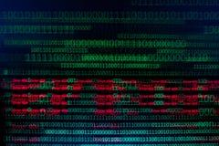 数字连续, abctract数据用二进制编码,给技术砍伐 免版税库存图片