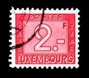 数字-交付的邮费, serie,大约1946年 免版税图库摄影
