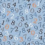 数字-无缝的墙纸 皇族释放例证