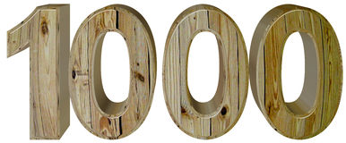 数字1000,一千,隔绝在白色背景, 3d ren 免版税库存图片