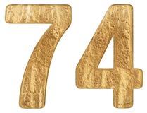 数字74,七十四,隔绝在白色背景, 3d回报 免版税库存图片