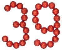 数字39,三十九,从装饰球,隔绝在丝毫 图库摄影