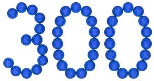 数字300,三百,从装饰球,隔绝在w 库存图片