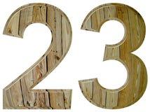 数字23,二十三,隔绝在白色背景, 3d 免版税库存照片