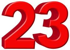 数字23,二十三,隔绝在白色背景, 3d rende 图库摄影
