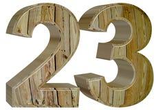 数字23,二十三,隔绝在白色背景, 3d rende 库存图片