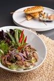 数字Tok泰国牛排牛肉沙拉 库存照片