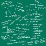 数学乱画的配方 库存例证