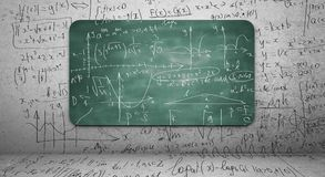 数学公式 库存照片