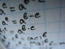 数学公式 免版税库存照片