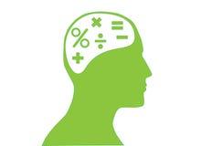 数学头脑 库存图片