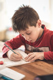 数学家庭作业 免版税图库摄影