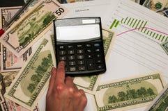 数学展望为将来 背景的美元 原因是财富的概念 免版税库存图片
