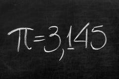 数学数字:教育背景的Pi 免版税库存照片
